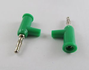 10 Pcs Green Speaker Banana Male Plug Screw Connector Adapter Converter
