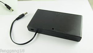 Battery Holder Case 8XAA 12V ON/OFF Switch DC 5.5 x2.1mm Power CCTV Surveillance