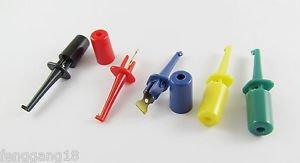 "5x Single Hook Clip Mini Grabber Test Probe SMD IC Multimeter 1.6"" 4cm 5 Colors"