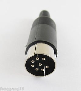1pcs DIN Plug Male Plug Cable Connector 8 Pin With Plastic Handle