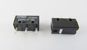 10 pcs OMRON Micro Switch Microswitch for Mouse 0.74N D2FC-F-7N