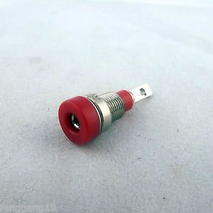Red Multimeter Instrument 2mm Binding Post Banana Socket Panel Mount Test Probe