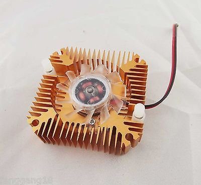 55mm Cooling Fan Heatsink Cooler PC Computer CPU VGA Video Card 12V 2 Pin Bronze
