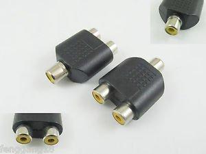 10x RCA Phono Female Jack To Dual RCA Female Y Splitter Audio Adapter Converter