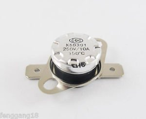 1pcs Temperature Controlled Switch Thermostat 150°C N.C. KSD301 Normal Close 10A