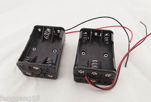 10pcs 6 x AAA Size LR03 UM-4 Plastic Battery Holder Box 9V Case With Wire Lead