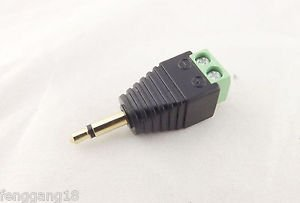 "Adapter Converter 3.5mm 1/8"" Mono Male Plug To AV Screw Video AV Balun Terminal"