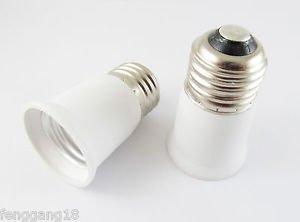 E26 to E26 Extend Base LED Halogen CFL Light Bulb Lamp Adapter Converter Holder
