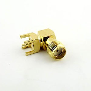 1x PCB PC Board Mount SMA Female Jack Right Angle Coaxial RF Connector Adapter