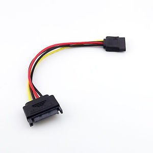 SATA 15 Pin Male Plug To 15 Pin Female Serial ATA Power Adapter Extension Cable