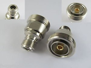 L29 7/16 DIN Female Jack to N Female Jack Straight RF Coaxial Adapter Connector