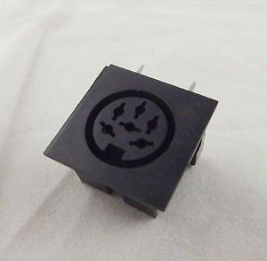 1pcs DIN 6 Pin Circular Jack Female Panel Mount PCB Mount Connector Adapter