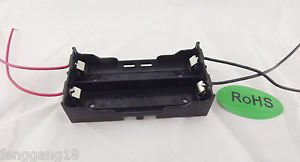1pcs Hold Two Li-ion 18650 X2 DIY Battery Holder Case With 4 Lead Wire