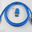 Premium Quality USB 3.0 Male to USB 3.0 Female Extension Cable Blue 1.5m 4.8Gbps