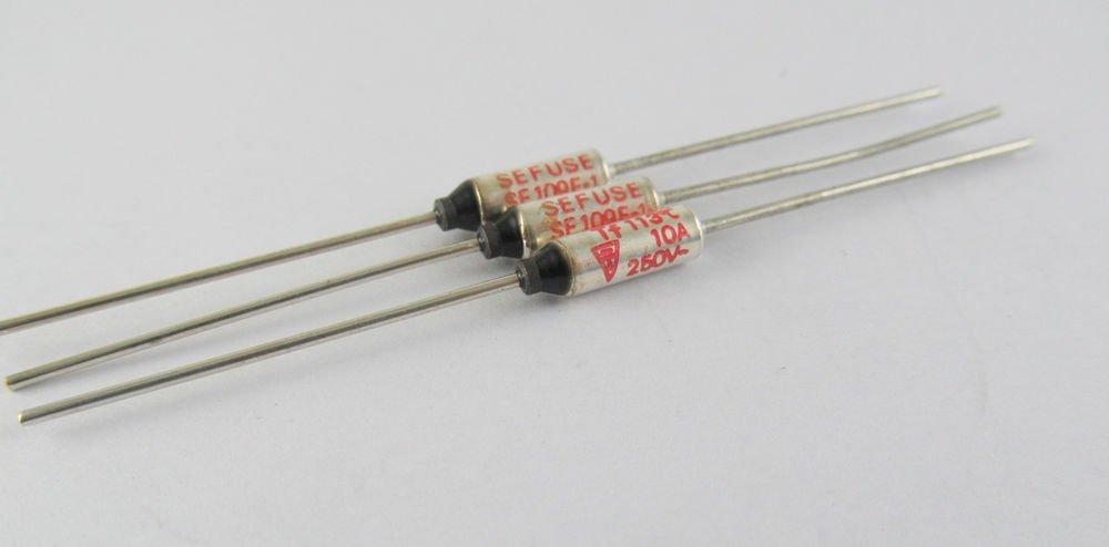 5 Pcs Microtemp Thermal Fuse 113°C 113 Degree TF Cutoff SF109E 10A AC 250V New
