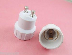 2X GU10 to E14 Base LED Halogen CFL Light Bulb Lamp Adapter Converter Holder New