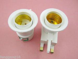 10X LED Light Bulb Lamp Socket Base Holder E27 to UK Plastic Adapter Converter