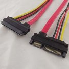 1x 22 Pin 7+15 pin Male To Female SATA Data HDD Power Combo Extension Cable 30cm