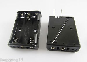 10x 3X AAA 3A Battery Holder Box Case 4.5V 2 PCB Pin Needles F Connecting Solder