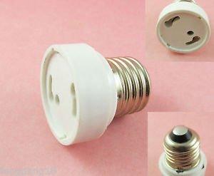 E27/E26 To GU24 Socket LED Halogen CFL Light Bulb Lamp Adapter Converter Holder