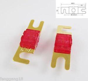 10pcs Gold Plated Car Audio AFS Mini ANL Fuse Auto Stud Fuses 32V 125A 125AMP