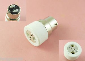 B22 to MR16 Socket Base LED Halogen CFL Light Bulb Lamp Adapter Converter Holder