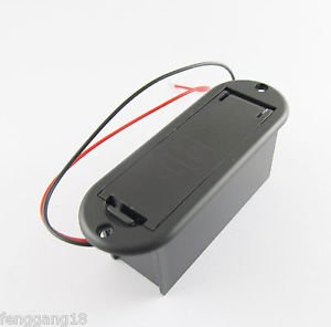 5x Black 9V Battery Case Holder Cover Box for Active Guitar Bass Pickups Preamps