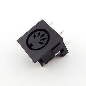 10pcs DIN 5 Pin Circular Jack Female Panel Mount PCB Mount Connector Adapter
