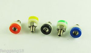 50x Banana Socket Jack For 2mm Mini Banana Plug Receptacle Binding Post 5 Colors