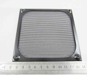 Metal Dustproof Filter Dust Mesh Grill Guard 12cm 120mm Black PC Case Cooler Fan