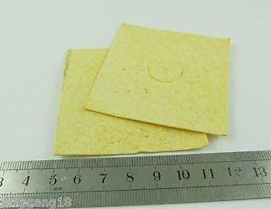 100pcs Soldering Iron Tip Welding Cleaning Cleaner Sponge for HAKKO 936 60*60mm