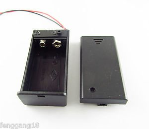 "9V 9 Volt Battery Holder Box Cover with ON/OFF Switch Pack Power Toggle 6"" Lead"