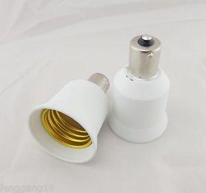 BA15S To E26 Socket Base LED Halogen CFL Light Bulb Lamp Adapter Converter Holde