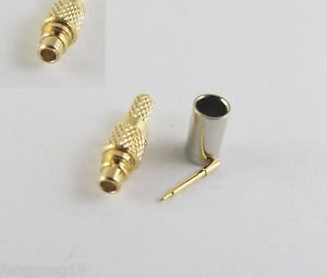 MMCX Male Plug Straight Crimp RG174 RG316 LMR100 RG179 RG188 Cable RF Connector