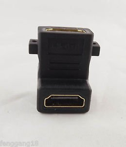 1pcs HDMI FeMale To HDMI Female Wall Plate Angle of 90 Degrees Adapter Connecter