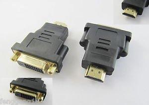 HDMI Male Plug to DVI-D 24+1 Female Jack DVI Adapter Converter M-F Gold Plated
