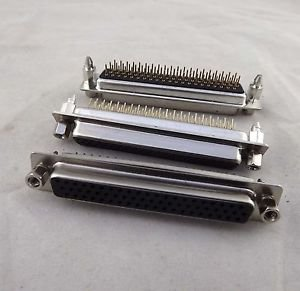 10x D-SUB DB62 62 Pin Female DIP PCB Solder Connector Adapter 3 Rows Lock Screw