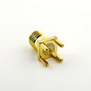 PCB PC Board Panel Mount SMA Female Straight Solder Receptacle Adapter Connector
