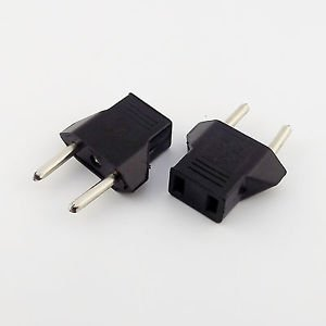 5x Travel Charger Wall AC Power Plug Adapter Converter US USA to EU Europe EURO