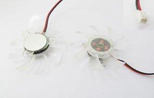 PC VGA Card Mini Heatsink Cooler Cooling Fan Equilateral Triangle 12V 2 Pin 55mm