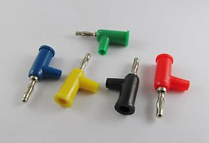 5Pcs Speaker 4mm Banana Male Plug Screw Connector Adapter Converter 5 Colors