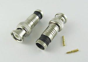 Compression CCTV BNC Male Plug Coax Coaxial Connectors Adapter RG59 CCTV Camera