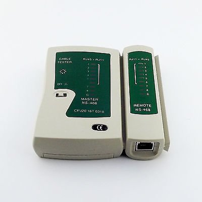 1pcs RJ45 RJ11 Cat5e Cat6 UTP Network Lan Cable Tester Networking Test Tool
