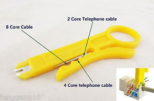 10x Network Connection Wire Punch Down Cutter Stripper UTP Cat5 RJ45 Cable Tools