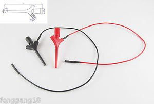10 Sets High Quality Test Hook Clip Liers Probes Aircraft SMD IC Jumper w/ Cable