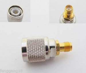 1pcs TNC Male Plug to SMA Female Jack Straight RF Coax Connector Adapter