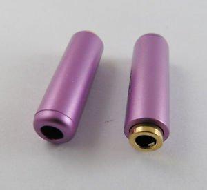 Purple 3.5mm Female Socket 3 Pole Repair Audio Earphones TRS Connector Soldering