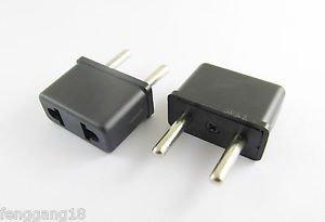 5x USA US To EU Europe EURO Travel Charger Power Adapter Converter Wall Plug