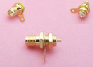 100x SMA Female Jack Panel Mount with nut bulkhead handle Solder RF Connector