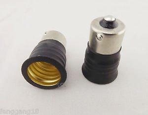 10x BA15S To E17 Candelabra Base Socket LED Light Bulb Lamp Adapter Converter